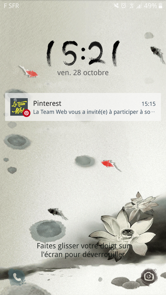 notification Pinterest