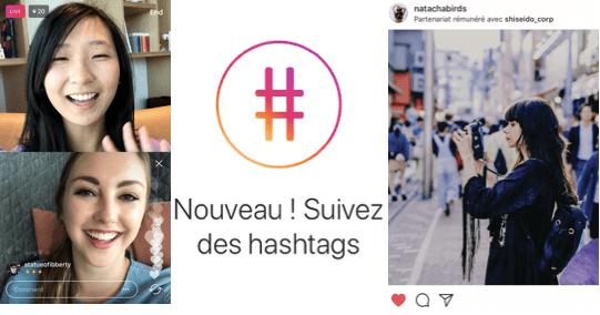 Suivez des hashtags sur Instagram