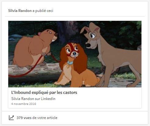 L'Inbound expliqué par les castors article LinkedIn