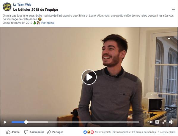 post facebook optimisé ligne éditoriale
