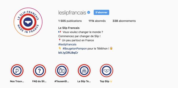 compte instagram optimisé