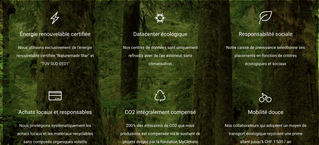site web écologiquesite