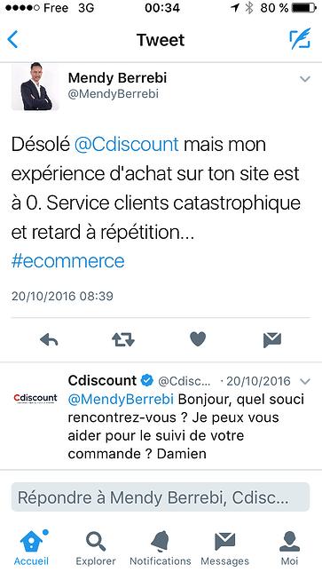 Avis Twitter Cdiscount