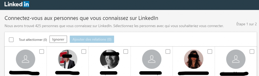 import contacts linkedin