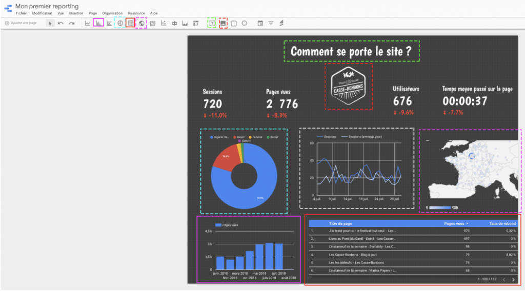 tableau terminé data studio