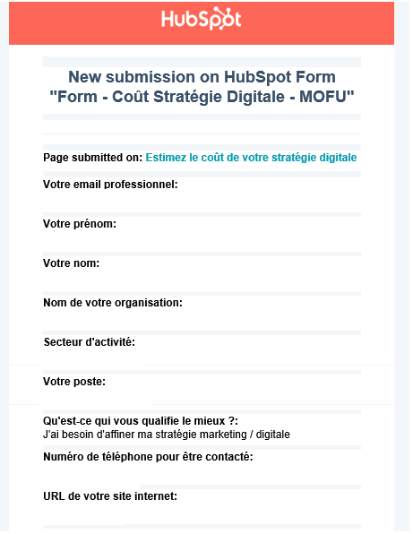 Exemple formulaire Hubspot